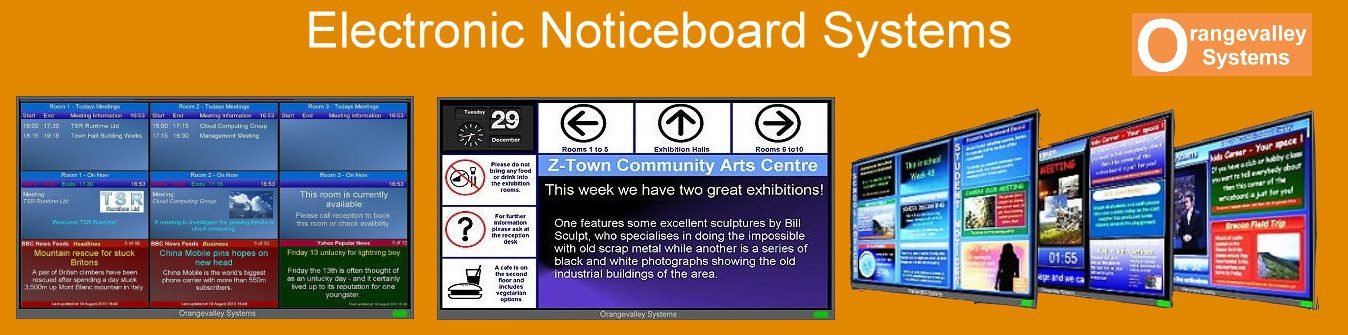 Electronic Noticeboards and Digital Signage Systems