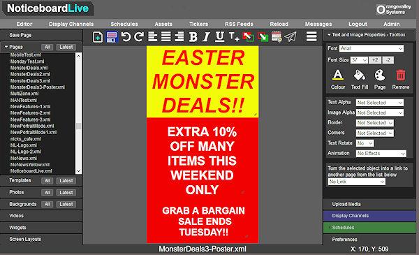 Online Signage Poster Editor