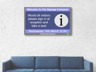 digital signage visitor welcome screen