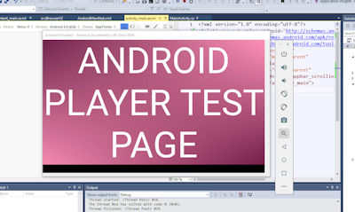 Android emulator running signage