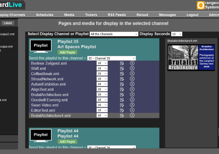 Digital Signage Playlist