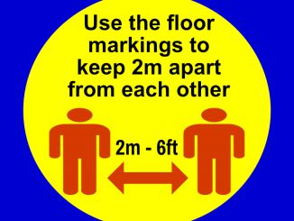 Square use floor markings graphic