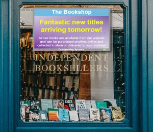 Signage screen in a shop window