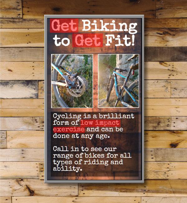 Digital Signage screens for bike shops