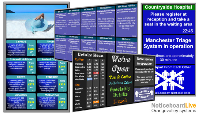digital signage and electronic noticeboard screens